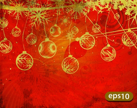 Christmas seamless pattern with gold xmas balls, vector illustration Vector