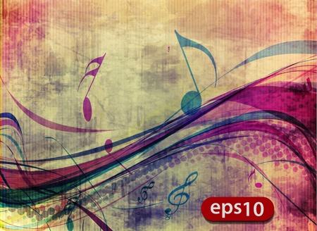 pentagrama musical: notas de la música abstracta de diseño para utilizar la música cartel, ilustración vectorial