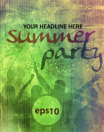 Music summer event flyer. illustration.  Vector
