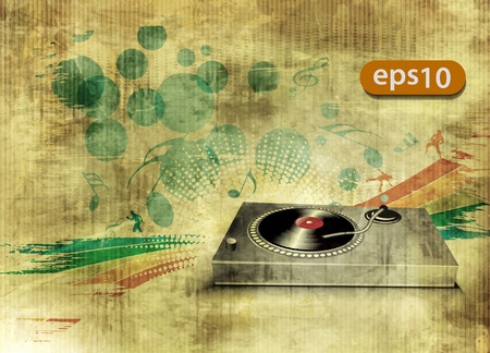 audiophile: vector illustration of modern grunge music urban design