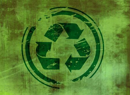 recycle symbol vector: vector texhure background of recycle symbol. Illustration