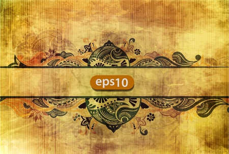grungy header: Floral grunge banners with place for your text.