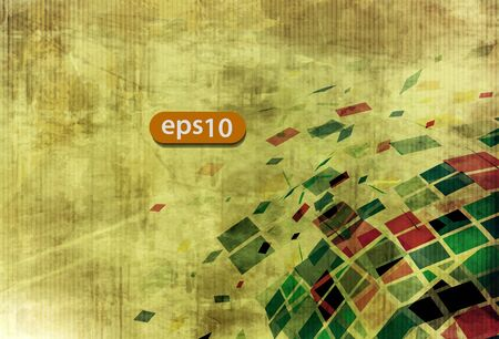Abstract explore square mosaic vector texture background