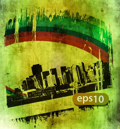 office background: abstract grunge cityscape background, urban art design