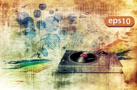 electronic music: illustrazione vettoriale, eventi di musica elettronica, poster partito sotterraneo Vettoriali
