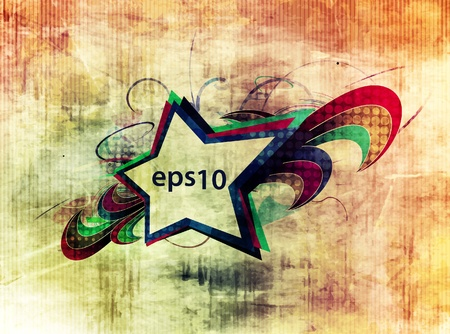 abstract grunge stars banner design, vector illustration Stock Vector - 11219147