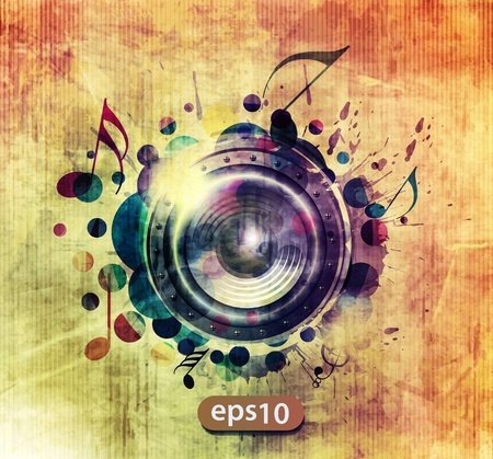 abstract colorful speaker design background illustration.  Vector