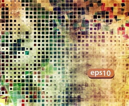 mosaic tile: astratto vettore mosaico grunge disegno di sfondo