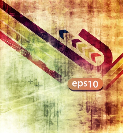 blemish: abstract grunge background with arrow wave. Illustration