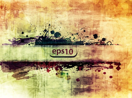 A poster with a grunge texture for a banner desugn use. Vector