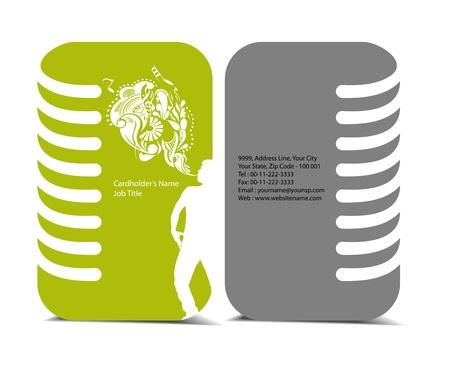 visiting: business card set , vector elements for design. Illustration