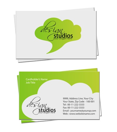 bright card: business card set , vector elements for design. Illustration