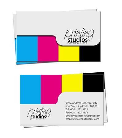 graphics card: business card set , vector elements for design. Illustration