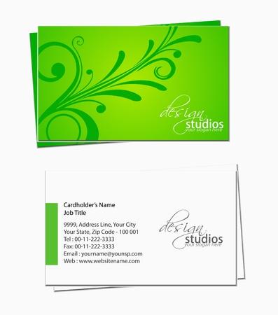 business card template: business card set , vector elements for design. Illustration