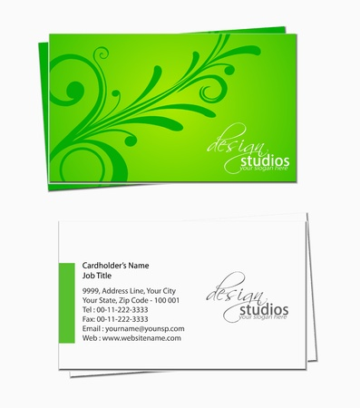 business card set , vector elements for design. Stock Vector - 11218925