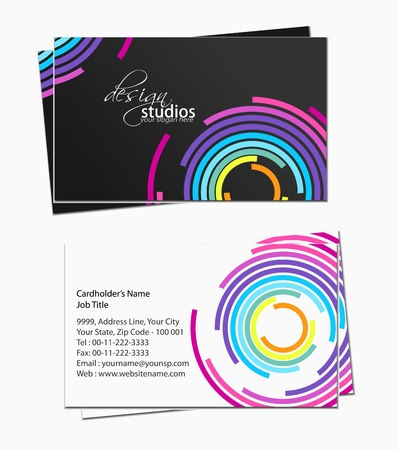 business card set , vector elements for design. Stock Vector - 11384788