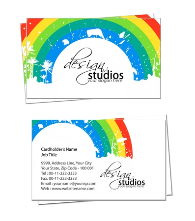 business card set , vector elements for design. Vector