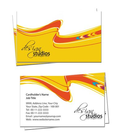 business card set , vector elements for design. Stock Vector - 11384791