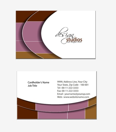 business card set , vector elements for design. Stock Vector - 11384783