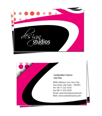 business card set , vector elements for design. Stock Vector - 11384786