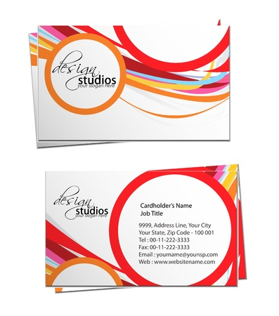 business card set , vector elements for design. Stock Vector - 11384785