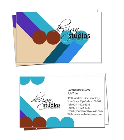 business card set , vector elements for design. Stock Vector - 11384793