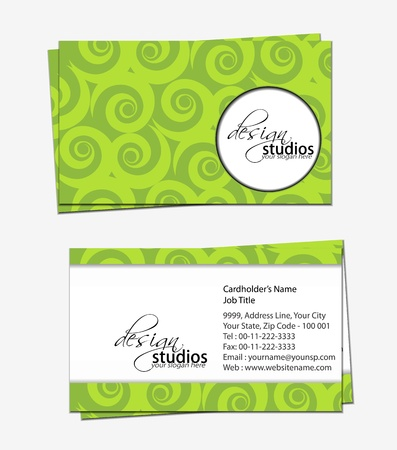business card set , vector elements for design. Stock Vector - 11384796