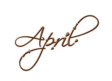 mars: Mois du texte chocolat ann�e, faites de chocolat vecteur �l�ment de design.