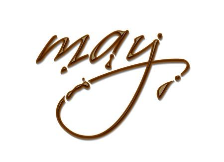 månader: Månad på året choklad text gjord av choklad vektor designelement. Illustration