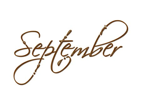 months of the year: Month of the year chocolate text made of chocolate vector design element.