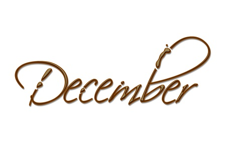 Month of the year chocolate text made of chocolate vector design element.  Vector