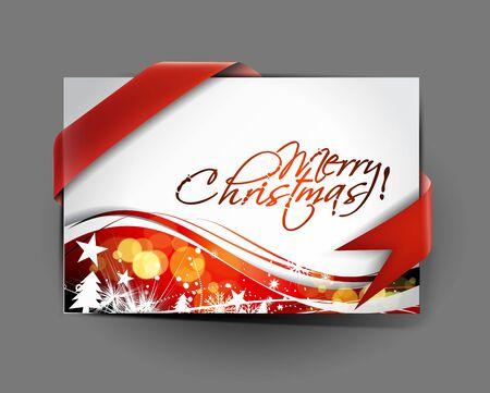 christmas greeting card design, illustration  Vector