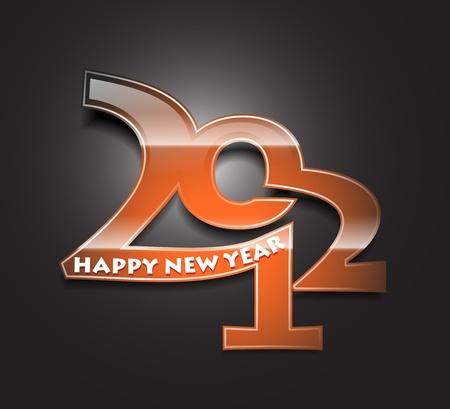 New year 2012  design. Vector illustration  Vector