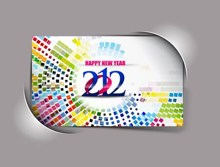 New year 2012 poster background. Vector illustration  Stock Vector - 12335912