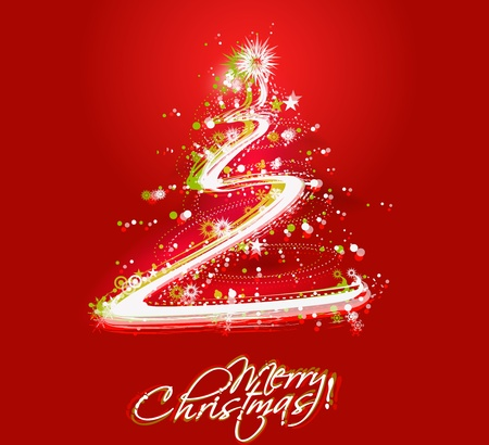 abstract red background for Christmas poster design for text project used.  Vector