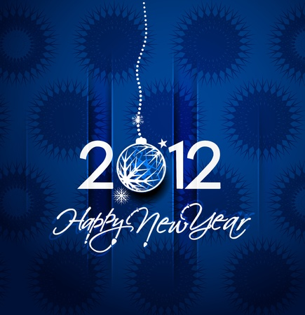 Christmas & new year 2012 poster background. Vector illustration  Stock Vector - 11579764