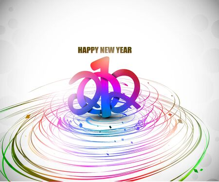 happy newyear: New year 2012 poster background. Vector illustration