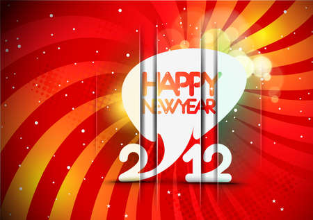 background calendar: New year 2012 poster background. Vector illustration