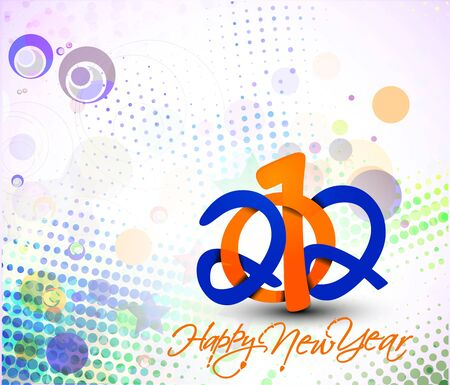 New year 2012 poster background. Vector illustration  Vector