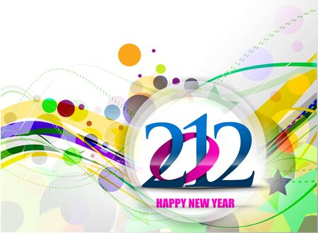 New year 2012 poster design. Vector illustration  Vector