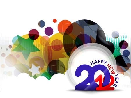 New year 2012 circle banner design. Vector illustration  Vector