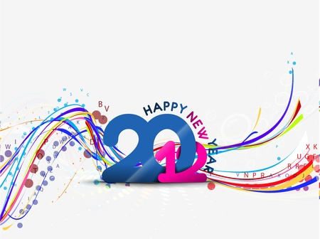 abstract new year 2012 wave design. Vector illustration Stock Vector - 11579759