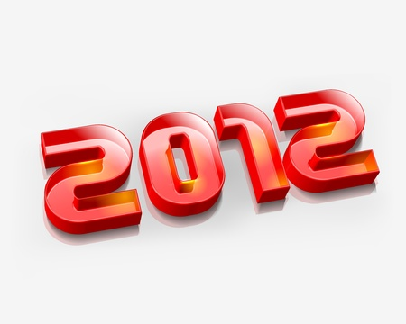 3d new year 2012 design element. Vector illustration  Vector