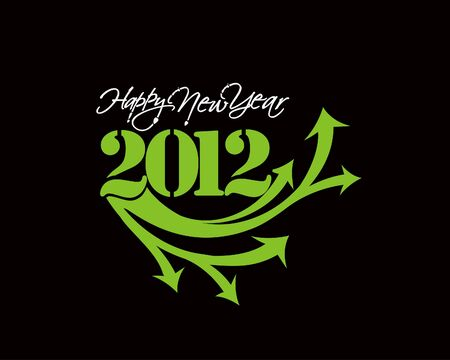 New year 2012 design element. Vector illustration  Vector