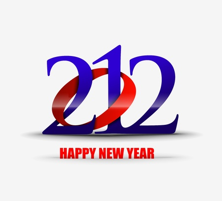 number eleven: new year 2012 in white background. Vector illustration