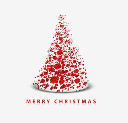 Modern abstract christmas tree background, illustration  Vector