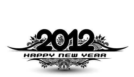 floral banner with new year 2012 background. Vector illustration Stock Vector - 11580038