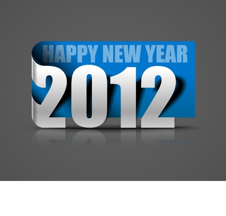 new year 2012 in white background. Vector illustration  Vector