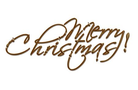 cioccolato natale: testo disegno cioccolata composizione del messaggio. Vettoriali