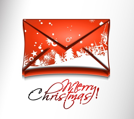 vector email christmas icon web design element.